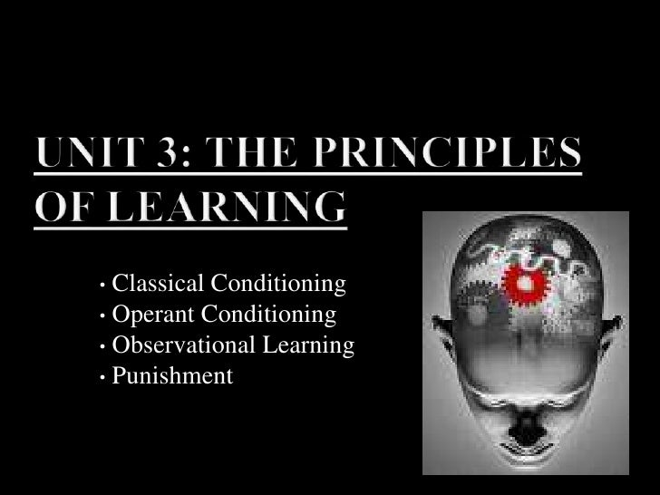 Unit 3: The Principles of Learning<br /><ul><li> Classical Conditioning