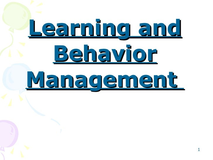 Learning and Behavior Management