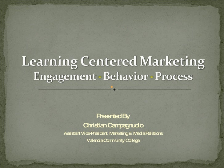 Learning Centered Marketing by Christian Campagnuolo