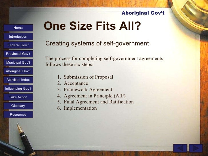 Aboriginal Self Government Essay - I need 3 POINTS!?