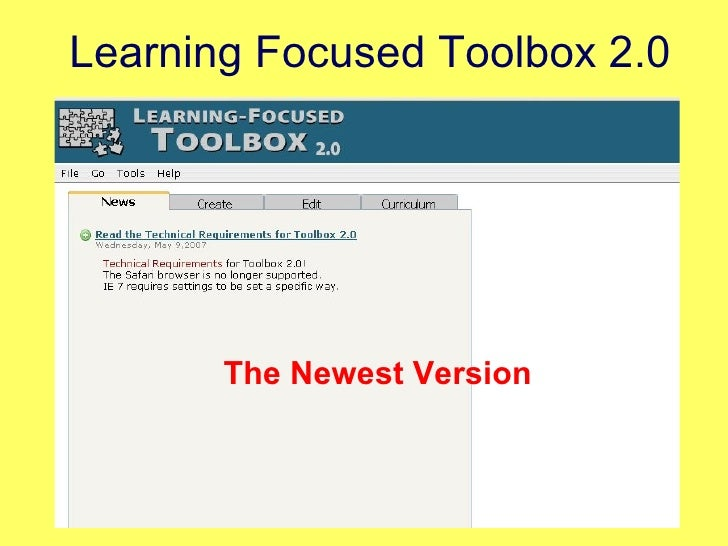 Learning Focused Toolbox 2.0 The Newest Version