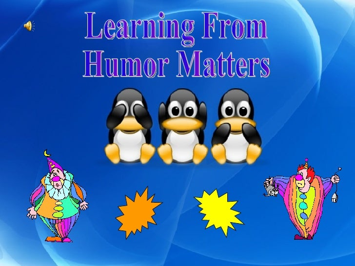 Learning From Humor Matters