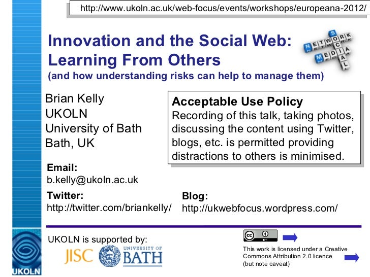 Innovation and the Social Web: Learning From Commercial Approaches