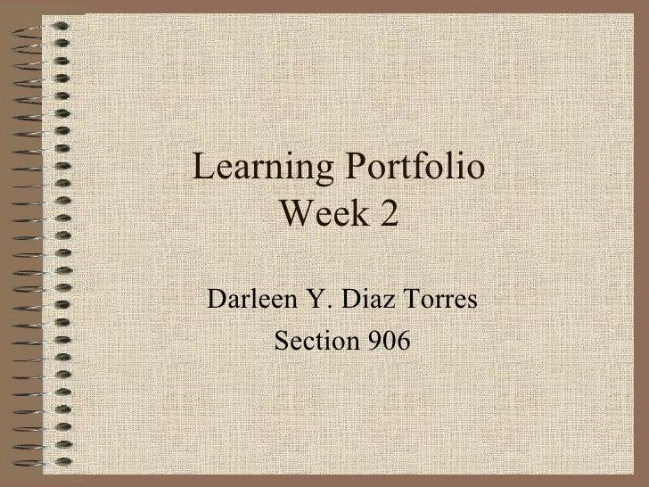 Learning Porfolio week 2