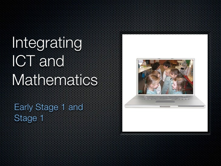 Integrating ICT and Mathematics Early Stage 1 and Stage 1