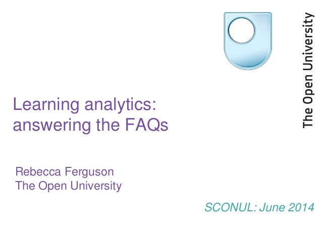 Learning analytics FAQs
