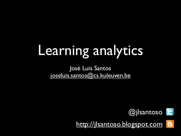 Learning Analytics MUME 2012