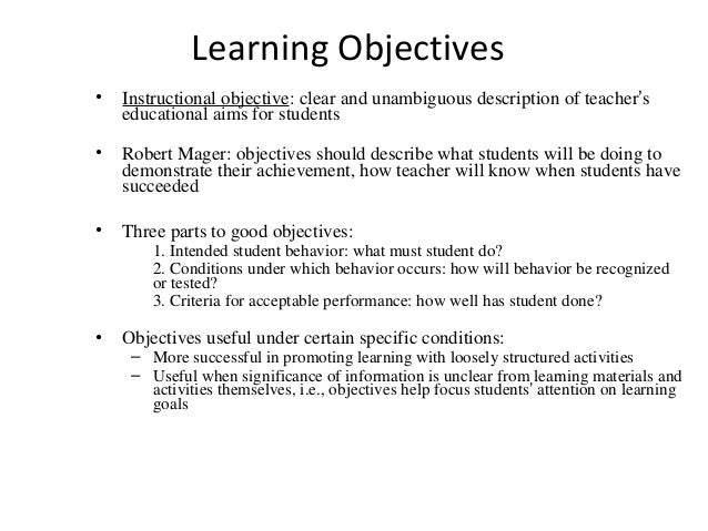 Teachers resume objectives