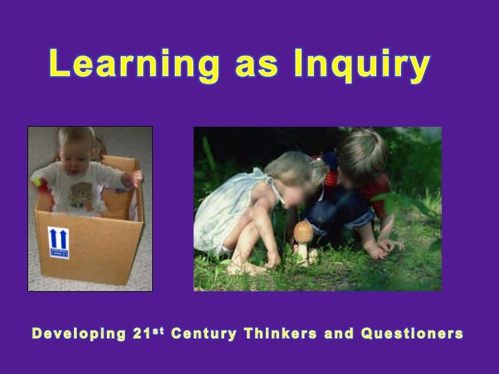 Learning as Inquiry PRT 2 Yrs 1-4