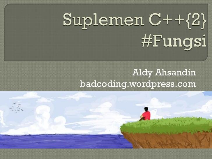 Aldy Ahsandinbadcoding.wordpress.com