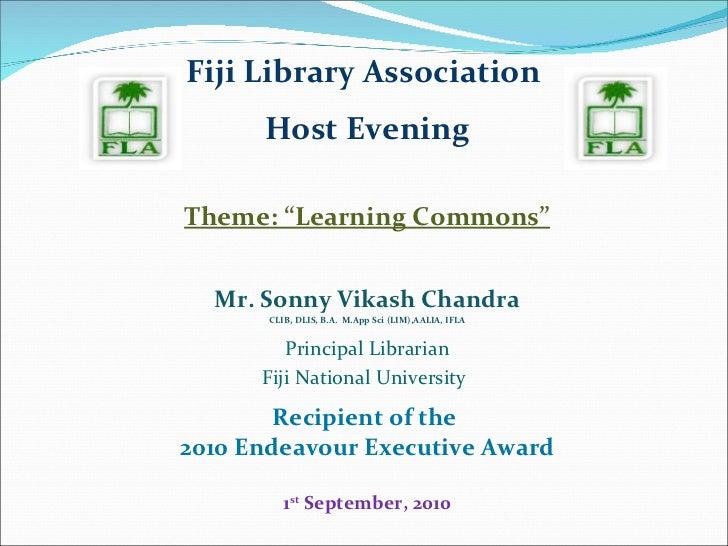 Learning commons presentation   september 2010