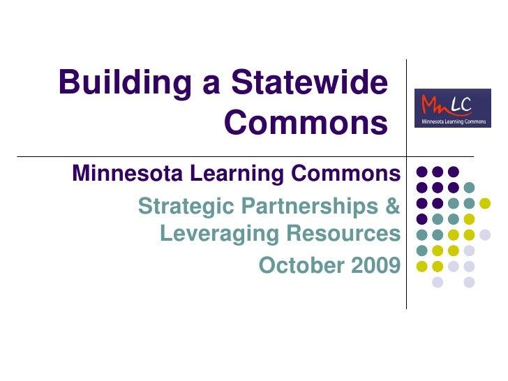 Learning Commons Presentation Memo