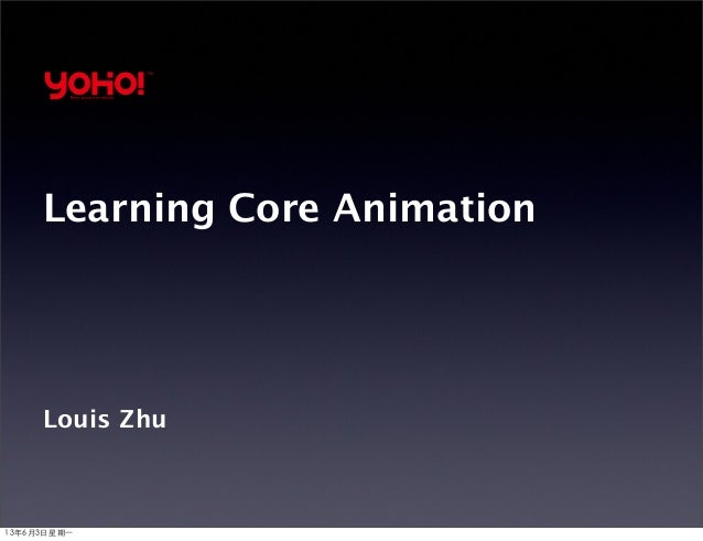 Learning Core Animation