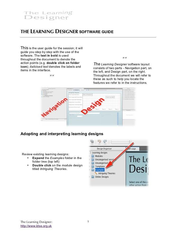 Learning designer userguide