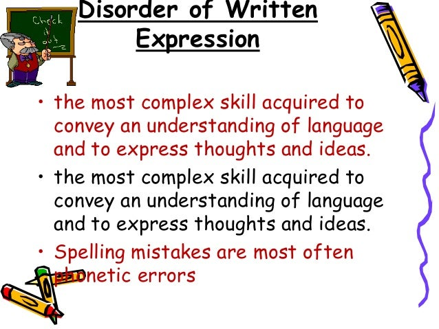 Writing disorders