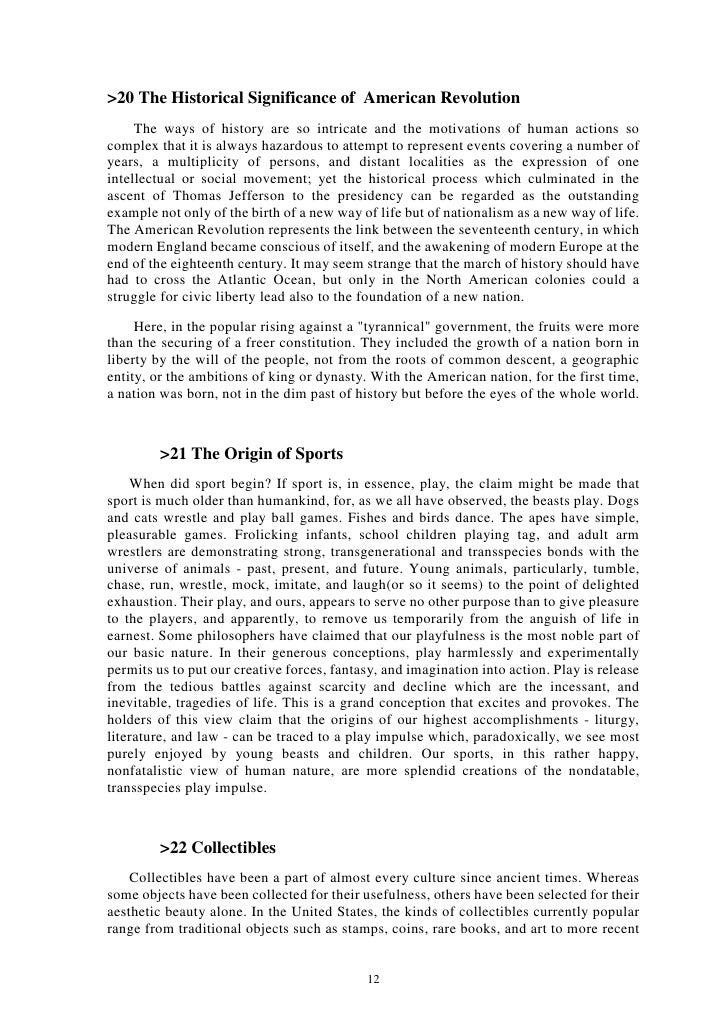 Essay On American Revolution  Hamlet Essay Thesis also Essay On Healthy Living  Business Essay Format