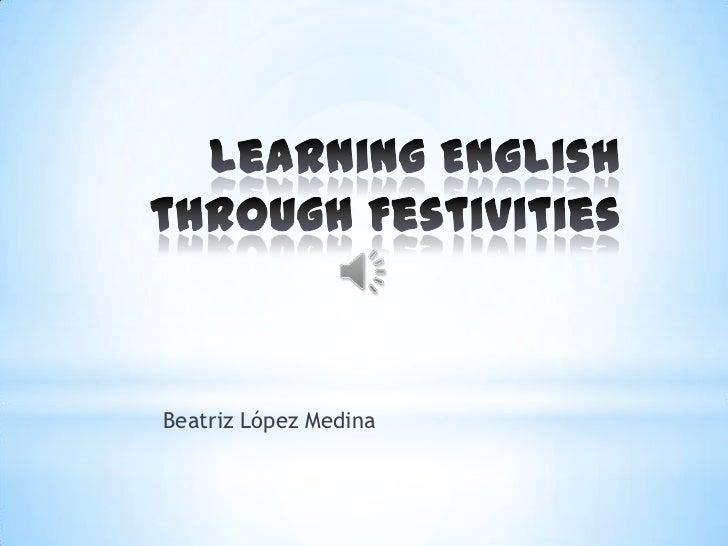 Learning English through festivities
