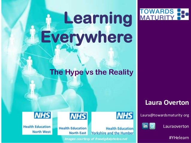 Learning Everywhere The Hype vs the Reality  Laura Overton Laura@towardsmaturity org  Lauraoverton Images courtesy of free...