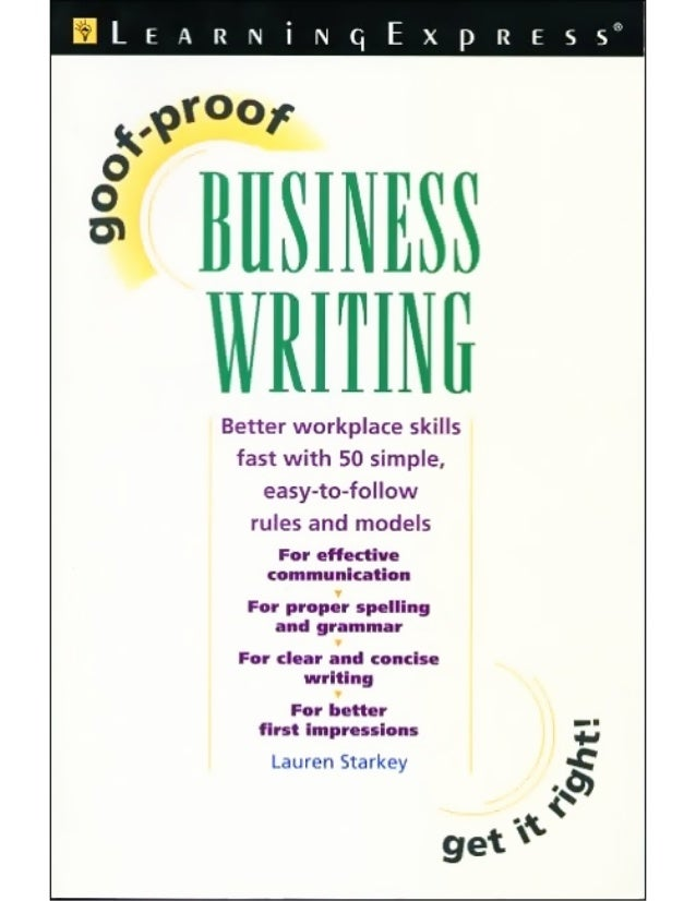 Learning express goof proof business writing - 193p