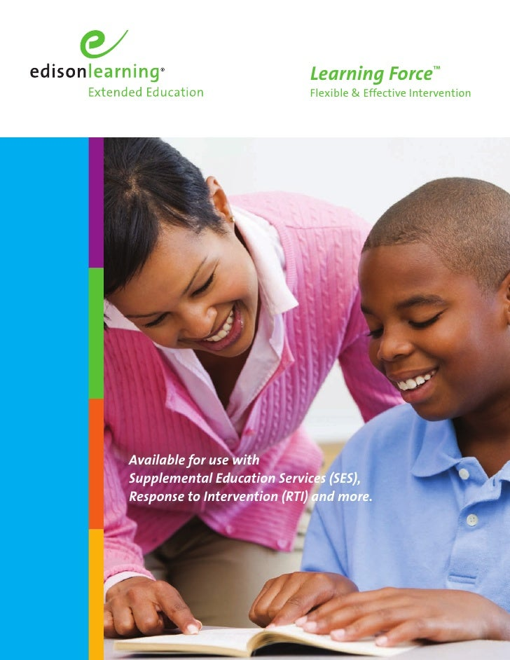 Learning Force™                              Flexible & Effective Intervention     Available for use with Supplemental Edu...