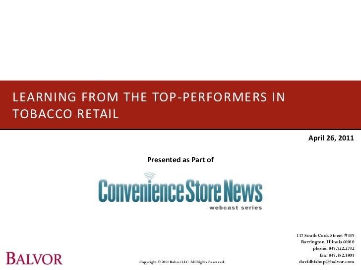 LEARNING FROM THE TOP-PERFORMERS INTOBACCO RETAIL                                                                         ...