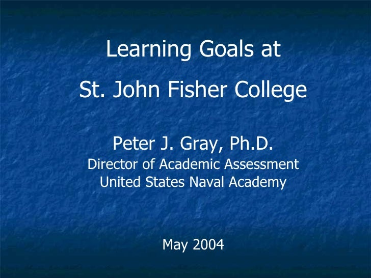 Learning Goals at St. John Fisher