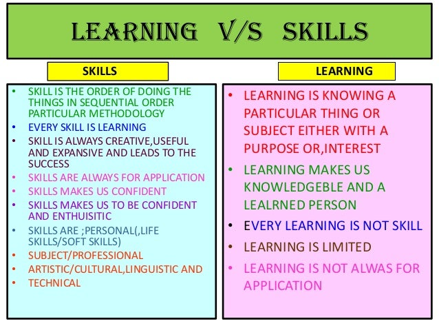 Learning ,life skills,and soft skills