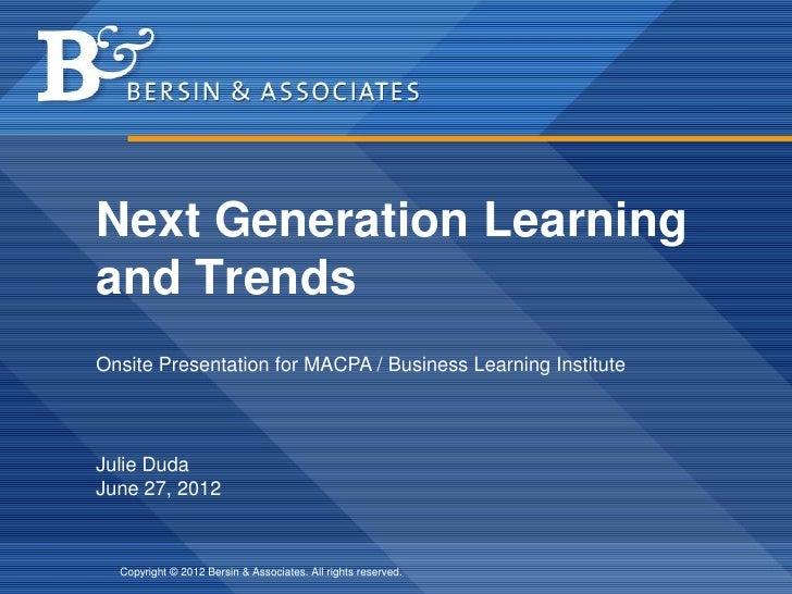 Learning Leader Symposium - Bersin 6-27-12