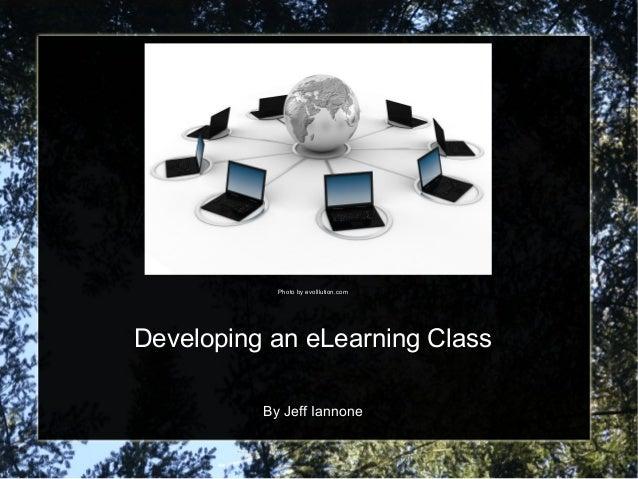 Developing an eLearning Class