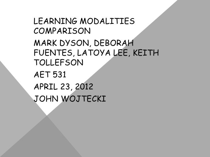 Learning modalities comparison (online)