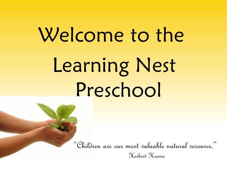 Learning Nest Preschool