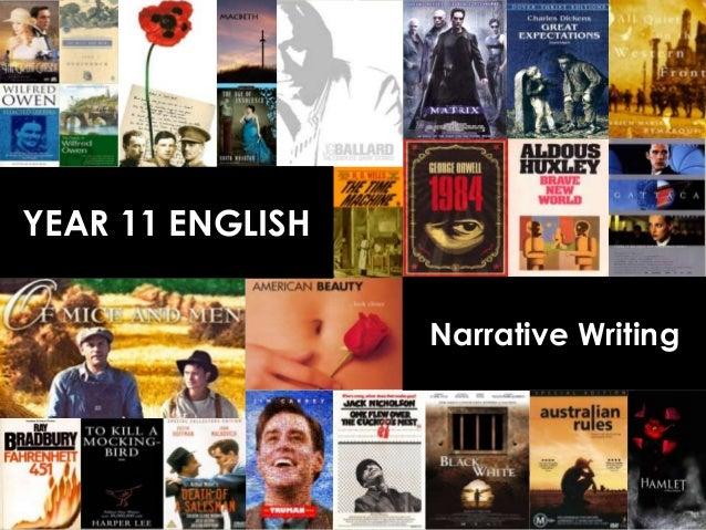 YEAR 11 ENGLISH                  Narrative Writing