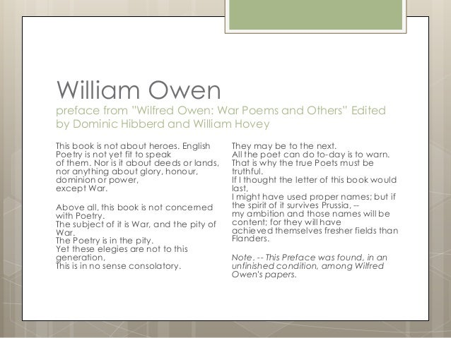 conflict poetry essay Wilfred owen: 'exposure' - mr bruff analysis mrbruff  power and conflict poetry revision guide    poetry essay 21,173 views.