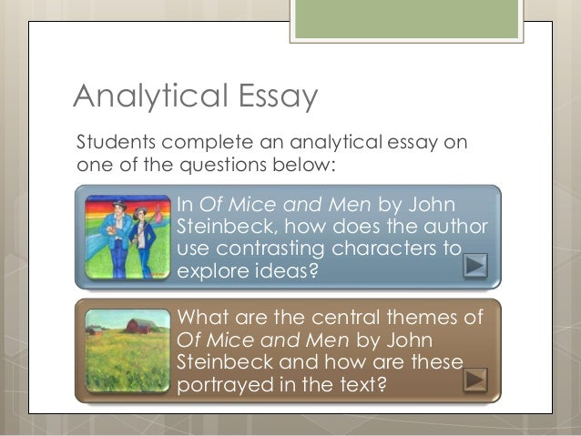 essays on mice and men themes