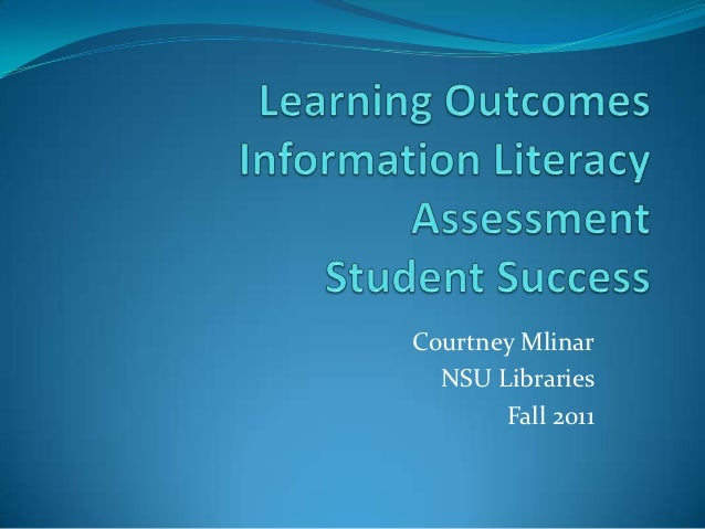 Learning outcomes workshop Fall 2011