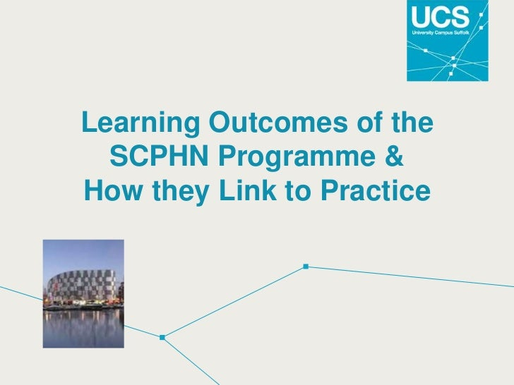 Learning outcomes of programme & link to practice