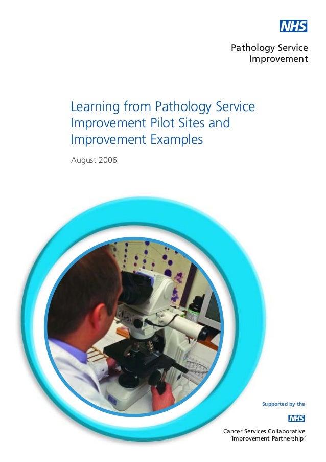 NHS                           Pathology Service                               ImprovementLearning from Pathology ServiceIm...