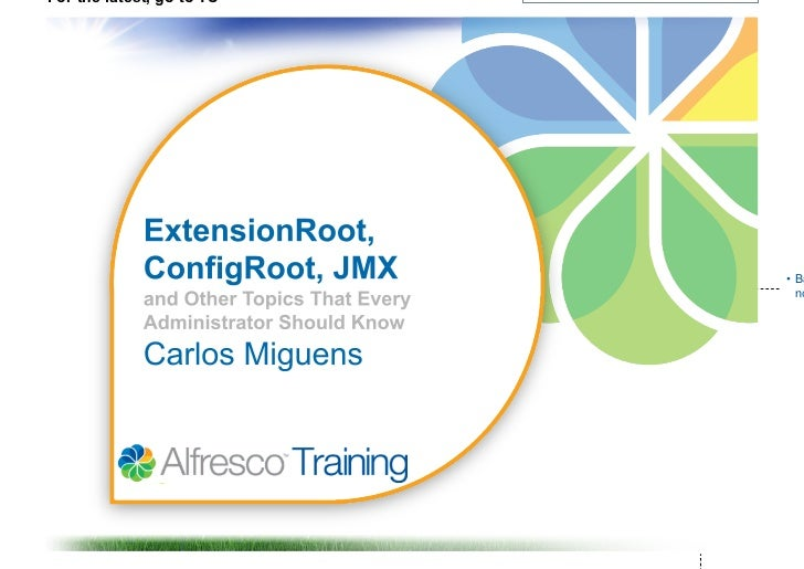 Learning pathway   topics every alfresco administrator should know 18-may2011