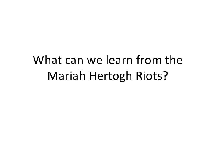 What can we learn from the Mariah Hertogh Riots?