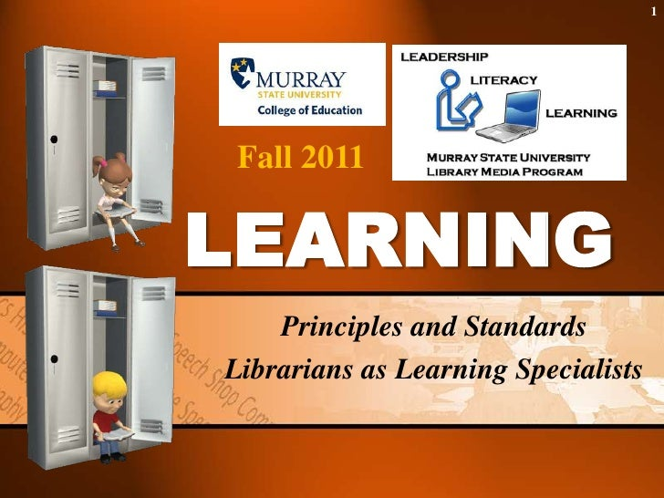 Principles and Standards:  Librarians as Learning Specialists