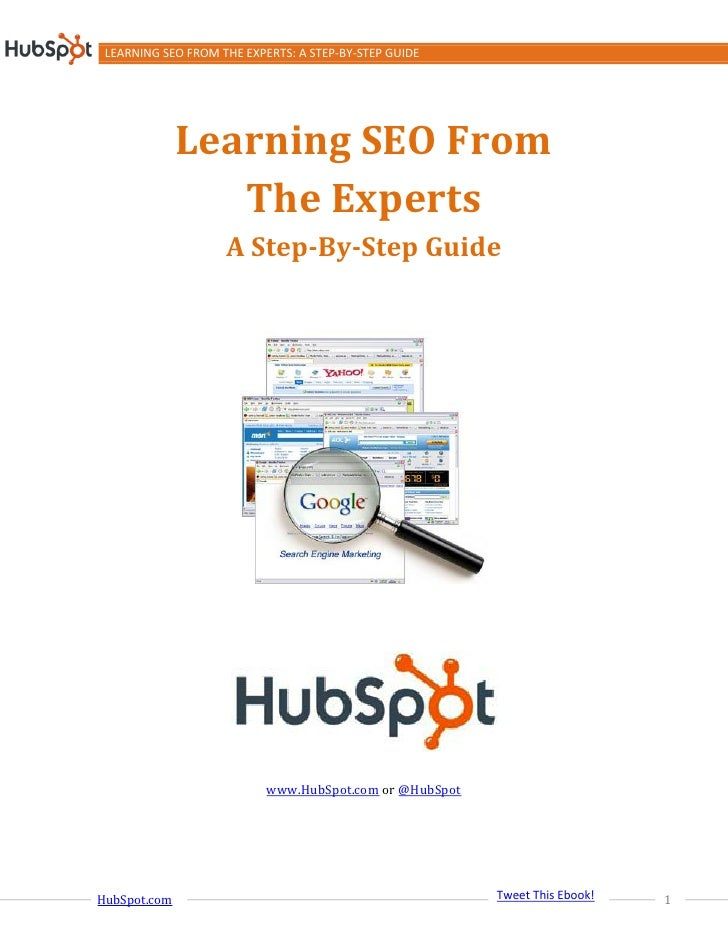 LEARNING SEO FROM THE EXPERTS: A STEP-BY-STEP GUIDE              Learning SEO From                 The Experts            ...