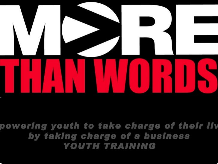 Empowering youth to take charge of their lives  by taking charge of a business YOUTH TRAINING