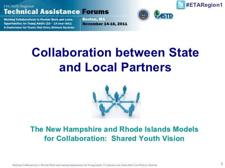 Collaboration between State and Local Partners The New Hampshire and Rhode Islands Models for Collaboration:  Shared Youth...