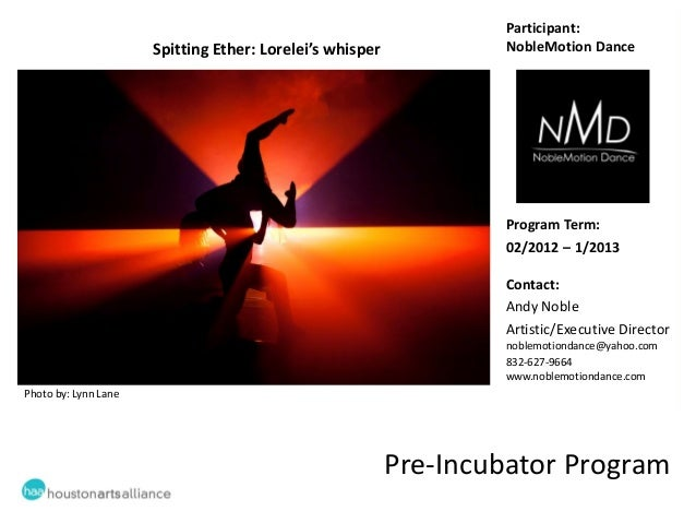 Learning sessions #5 Pre Incubator - NobleMotion Dance