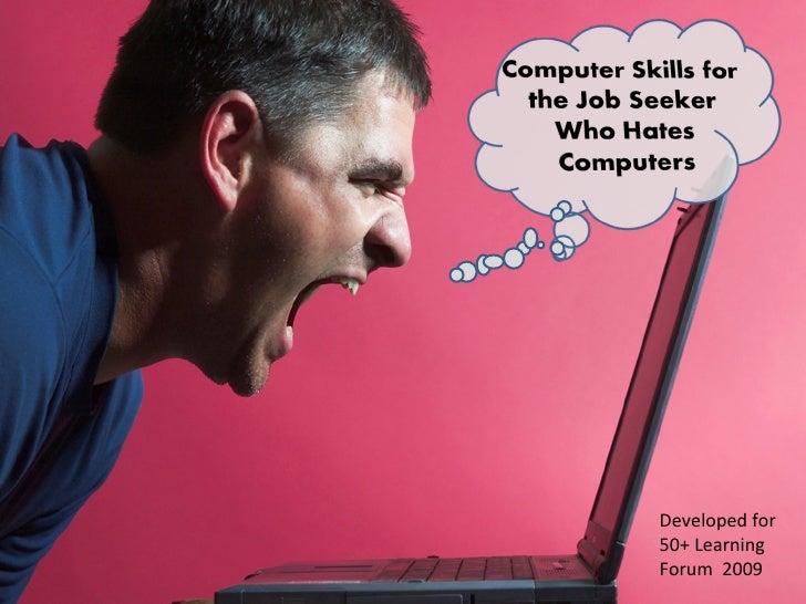 Computer skills for the job seeker