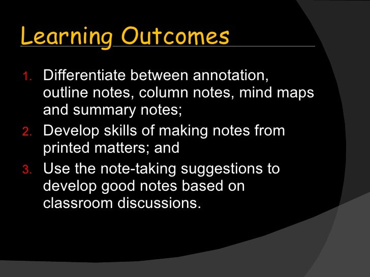 Note learning