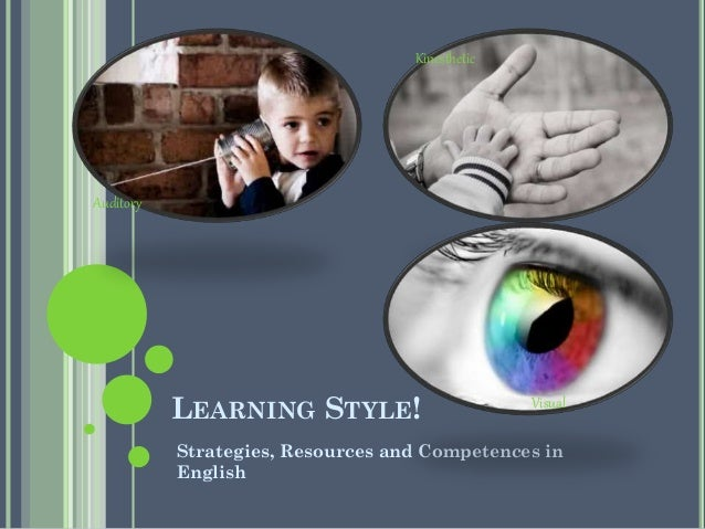 Kinesthetic  Auditory  LEARNING STYLE!  Visual  Strategies, Resources and Competences in English