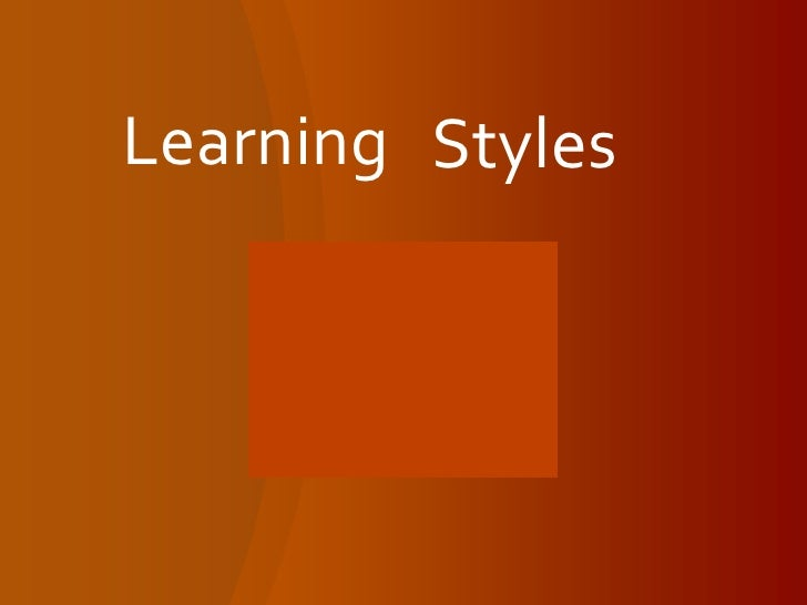Introduction to Learning Styles