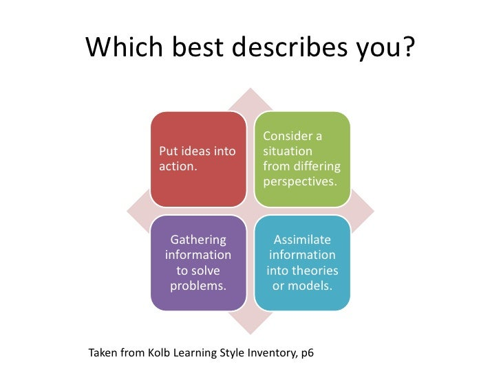 hsn 540 learning styles inventory paper