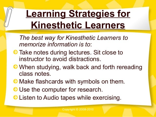 tips for kinesthetic learners